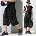 2017 New Summer Hop Hip Mens Calf -Length Pants Baggy Harem Pants Hippie Dance Sweatpants Capris Short Trousers