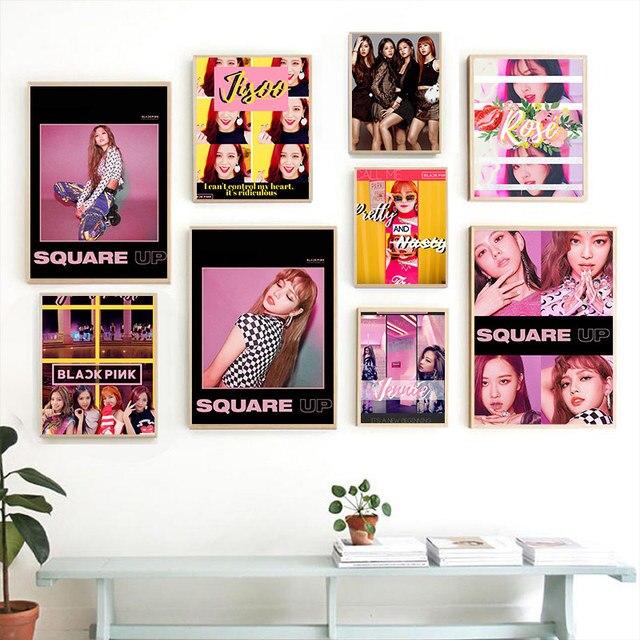 Blackpink Jisoo Jennie Lisa Rose Kpop ulzzang girl Home living Room