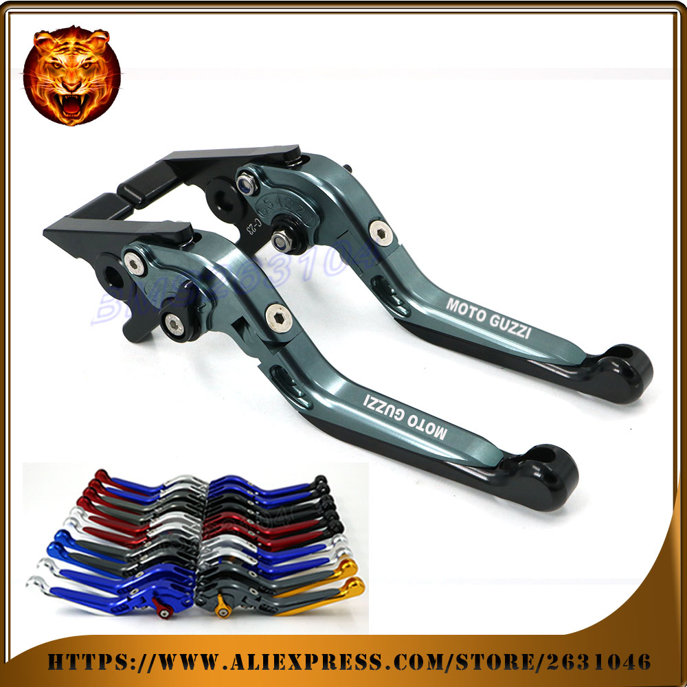 Adjustable Folding Extendable Brake Clutch Lever For MOTO GUZZI CALIFORNIA CUSTOM TOURING CLASSIC CNC Free shipping Motorcycle adjustable folding extendable brake clutch levers for moto guzzi griso breva 1100 norge 1200 1200 sport stelvio 8 colors