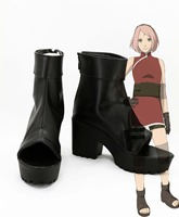 New Japan Naruto Cosplay Shoes Haruno Sakura Task Costume Anime Cos Boots Tailor Made