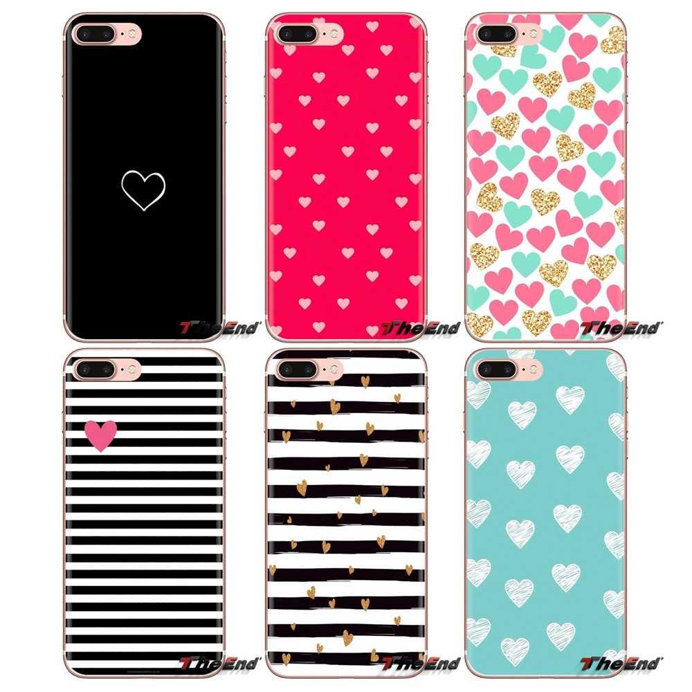 Para Oneplus 3 T 5 T 6 T Nokia 2 3 5 6 8 9 230 3310 2.1 3.1 5.1 7 Plus 2017 2018 Coração Amante De Luxo Transparente Macio Casos Covers
