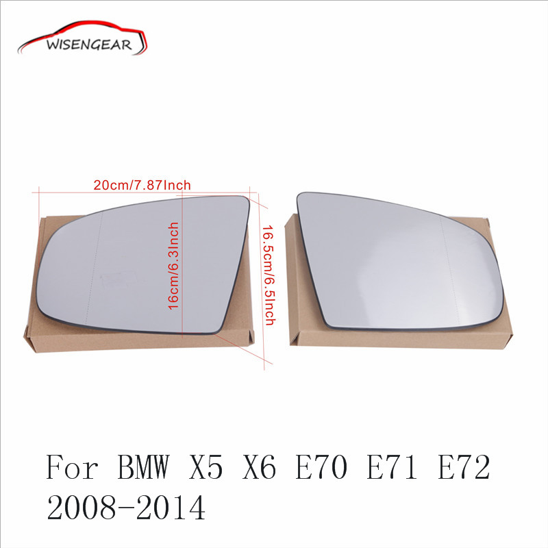 Left Right Side Heated Wing Mirror Glass For BMW X5 X6 M Sport E70 SUV E71