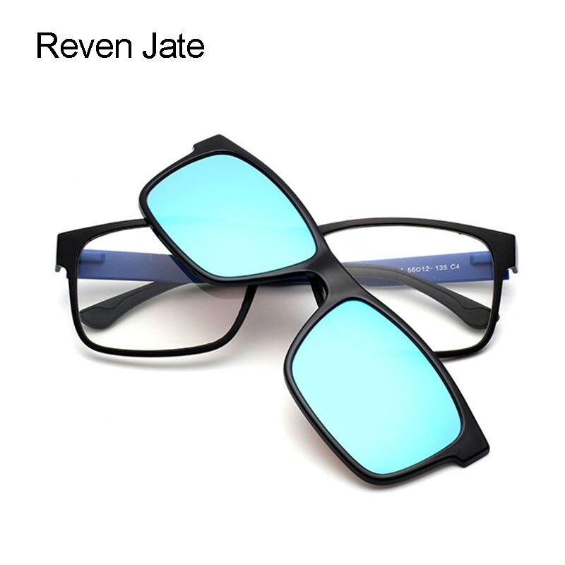 Reven Jate Reven Urltra Light TR90 Óculos de Armação Vidros Ópticos Óculos  com Clip on Polarizado Guarda sóis para os Homens e Mulheres em Armações de  ... 4ebfc9816a