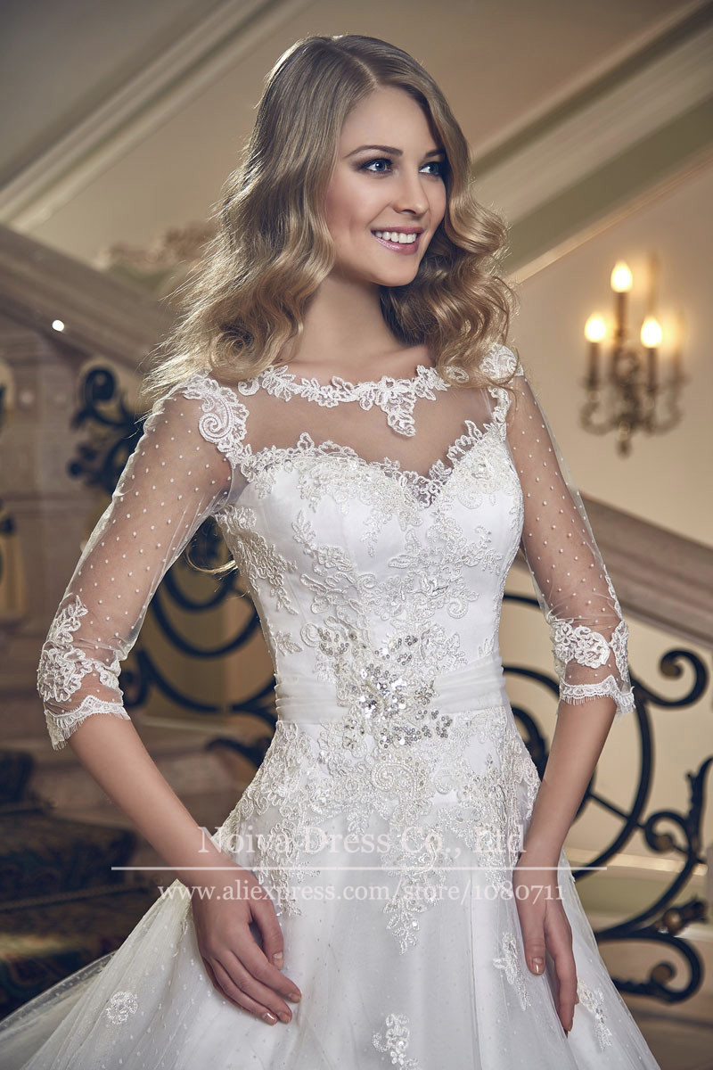 plus size wedding dress silk lace and illusion neckline wedding dresses zoom