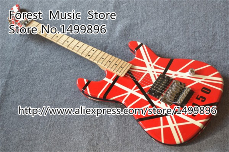 Hot Selling Red Kramer EVH Electric Guitar China OEM 5150 Guitars Body & Kits Custom Available Free Shippping