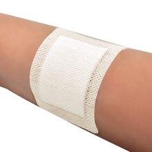 10 pces grande tamanho hypoallergenic não-tecido médico esparadrapo curativo curativo bandagem grande ferida primeiros socorros 6*7cm