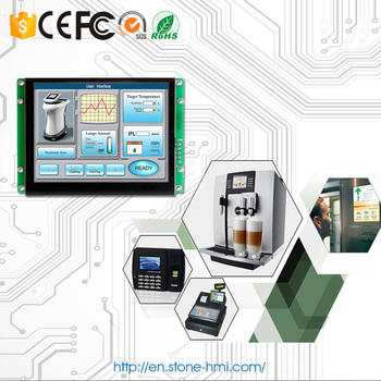 LCD With Flash Memory And Control Button For Production Line