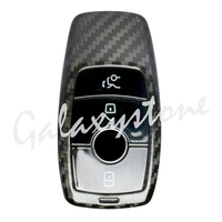 Carbon Fiber Auto Car Remote Key Case Cover Fits Mercedes Benz E Class