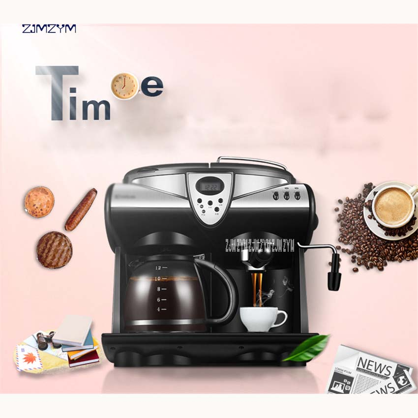 все цены на DL-KF7001 Coffee Maker Drip Type Machine 1.5L Full-automatic Cafe Americano Espresso Cafe Household Cappuccino Latte 220V 1850W онлайн