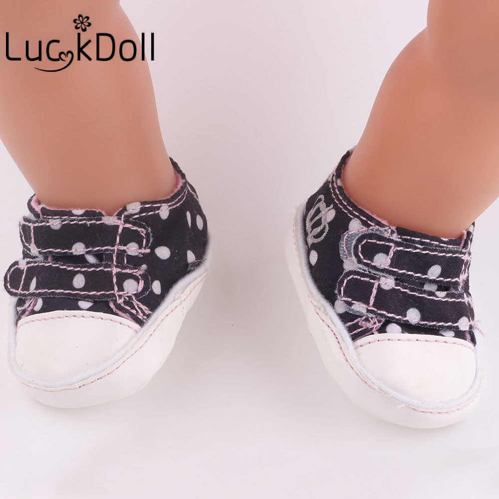 luck dollDoll Accessories,Black Doll Shoes Wear fit 43cm Baby Born zapf, Children best Birthday Gift b837