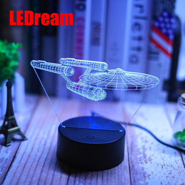 Strange new aviation aircraft 3 d small night lamp button USB science led home light spacecraft a night light 1