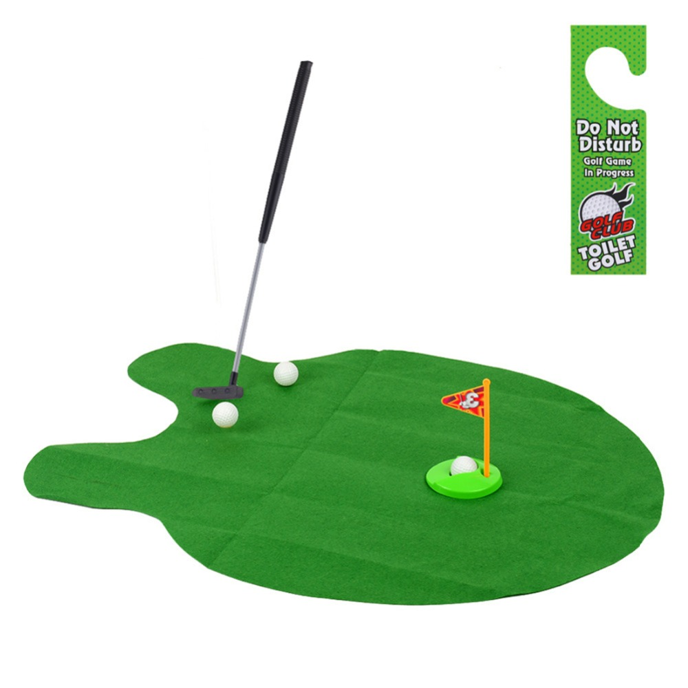 New Putter Toilet Golf Game Mini Golf Set Toilet Golf Putting Green Novelty Game Hig Quality For Men And Women Practical Jokes