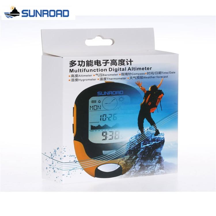 SUNROAD Pocket Watch Women Men Digital LCD Altimeter Barometer ...