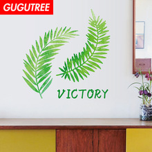 Decorate green leaf letter art wall sticker decoration Decals mural painting Removable Decor Wallpaper LF-1852 decorate trees monkey leaf art wall sticker decoration decals mural painting removable decor wallpaper lf 1819