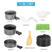 11 Pcs Camping Outdoor Cookware Set