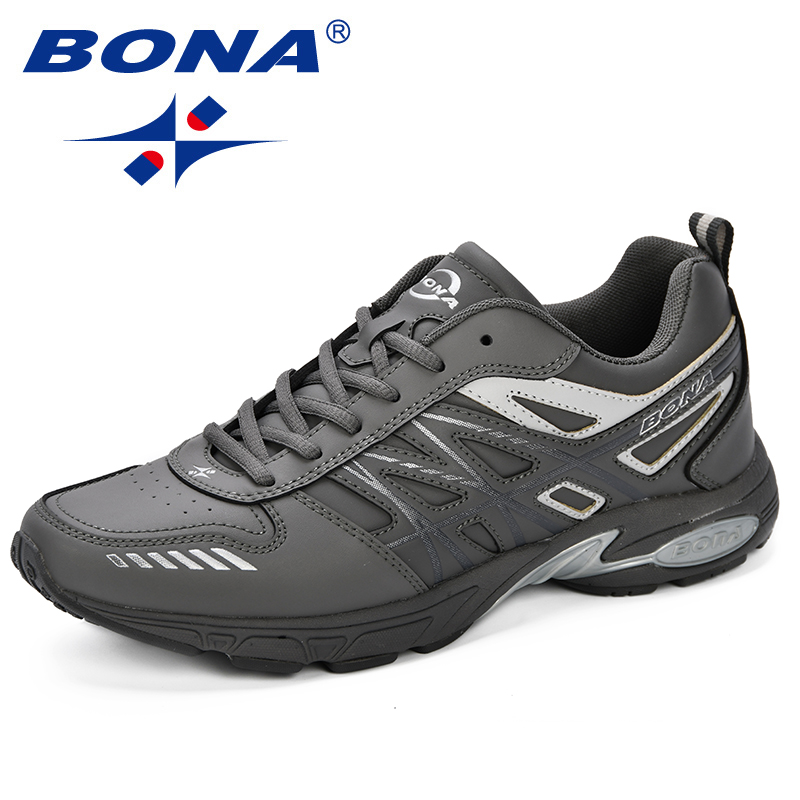 BONA 2018 New Arrival Men Running Shoes Breathable Male Sport Shoes Adult Men Trainers Shoes Outdoor