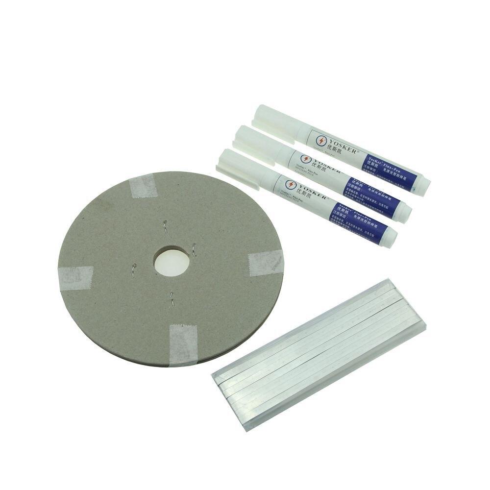 Tira de cintas PV de célula Solar 60 m cable de Tabbing + M cinta de alambre de barra de autobús 6 m + bolígrafo de flujo 3 unids para soldadura de Panel Solar DIY