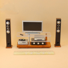 Pretend to play Mini Home Theater simulation woodiness TV audio power amplifier Toy Children Role Play parent-child interaction