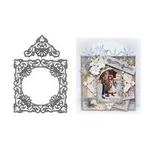 YaMinSanNiO 2 Pcs/lot Metal Cutting Dies Scrapbooking Card Making DIY Embossing Cuts Craft Stencils Lace Square Frame