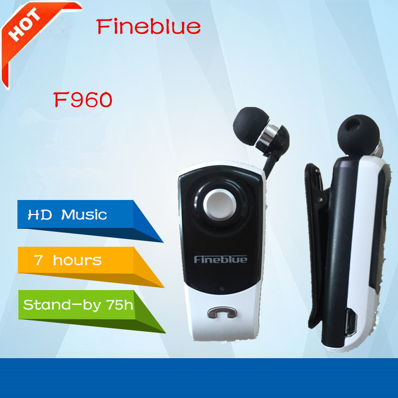 Newest FineBlue F960 Stereo Wireless Bluetooth Headset Calls Remind Vibration Wear Clip Driver Auriculares Earphone for Phone wireless bluetooth earphone fineblue f sx2 calls remind vibration headset with car charger for iphone samsung handfree call