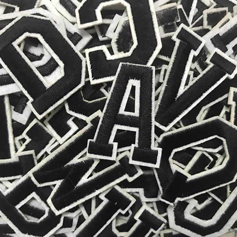 إلكتروني التطريز بقع DIY الغراء الساخن خياطة على العلامة التجارية القماش اكسسوارات الإنجليزية الأبجدية ملصقات زين اسم التصحيح