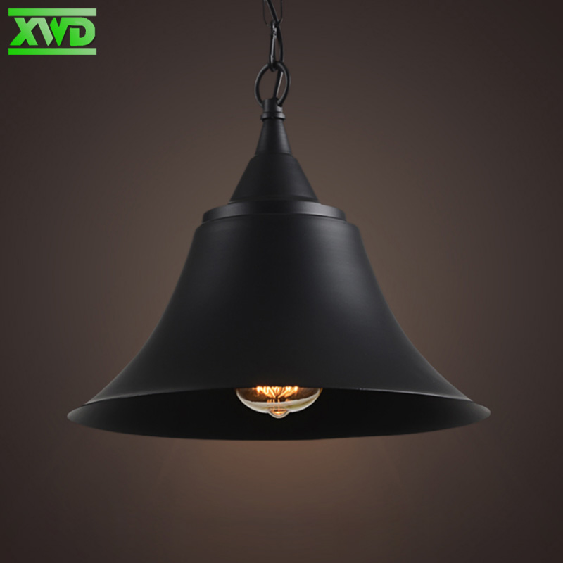 Vintage Trumpet Shape Foyer Iron Pendant Lamp Coffee House/Dining Hall/Club/Foyer/Shop E27 Lamp Holder 110-240V Free Shipping high temperature steam brass solenoid valve ac220v port 1steam type normal open type pz 25k