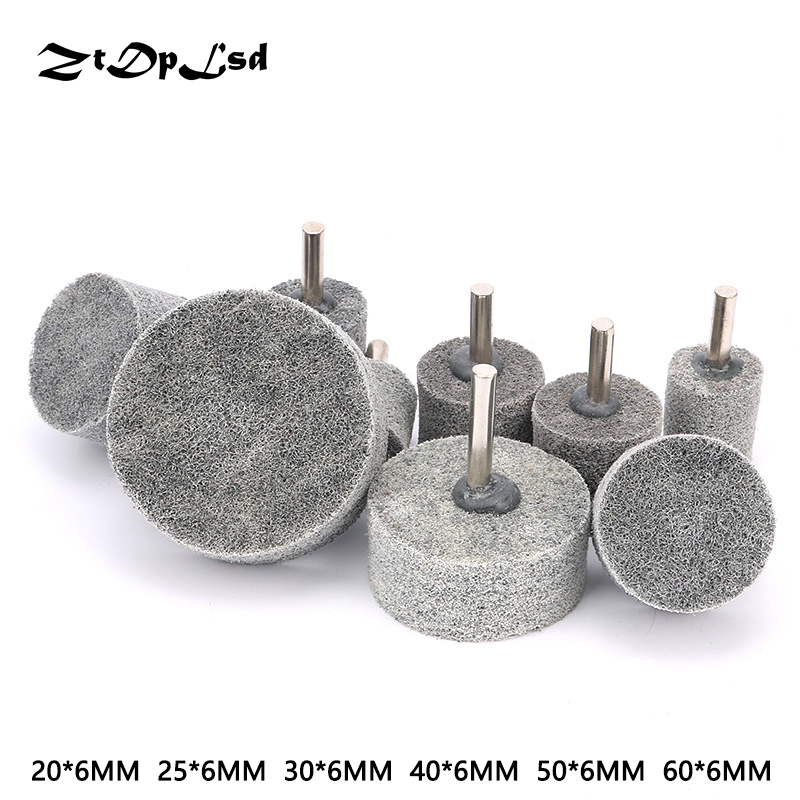ZtDpLsd 1Pcs 6mm Shank Fiber Nylon Special Mounted Point Grinding Head For Mould Finish Polish Grinder Rotary Tools