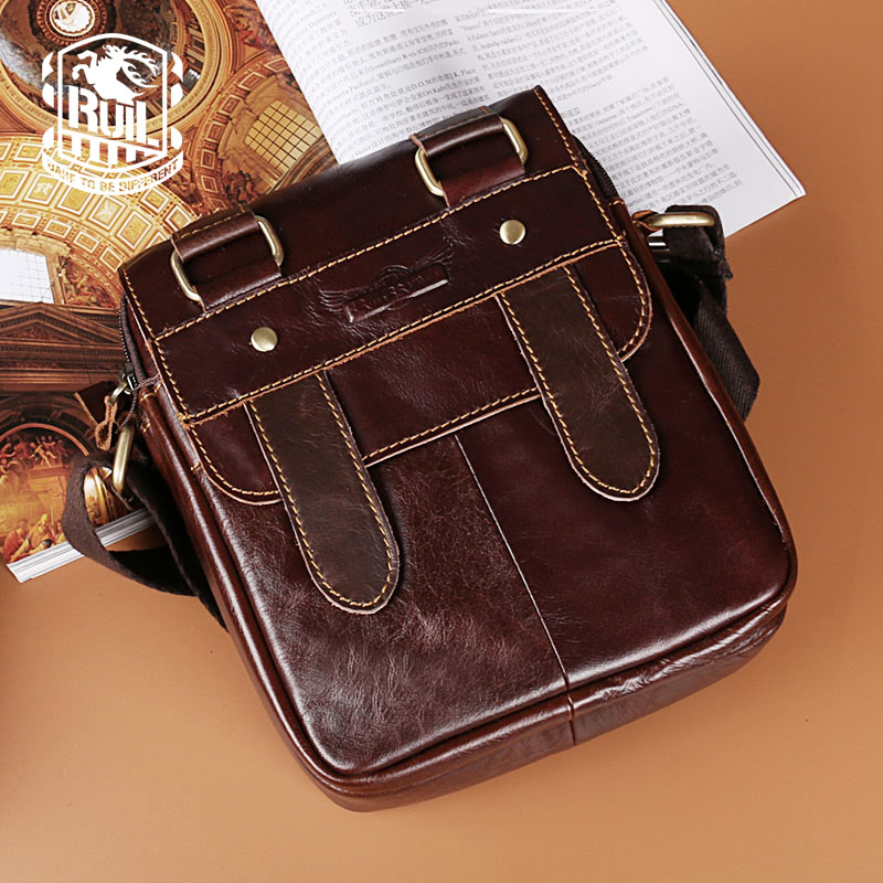 Ruil HOT! Retro fashion leather man bag business casual shoulder bag high quality soft shoulder bag Messenger