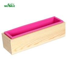 Николь силиконовая форма для мыла прямоугольная деревянная коробка