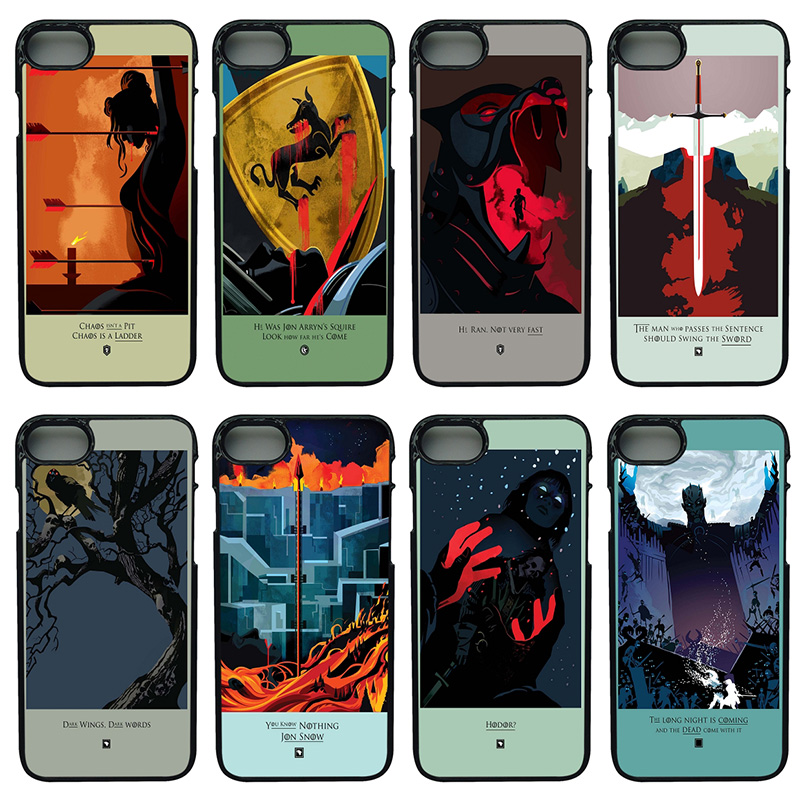 Games of Thrones Season Cell Phone Case Hard Plastic Cover Protect for iphone 8 7 6 6S PLUS X 5S 5C 5 SE iPod Touch 4 5 6 Shell