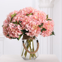 Klonca Luxury Hydrangea Silk Flower 46cm Fake Artificial Flowers Home Decoration Wedding Wall