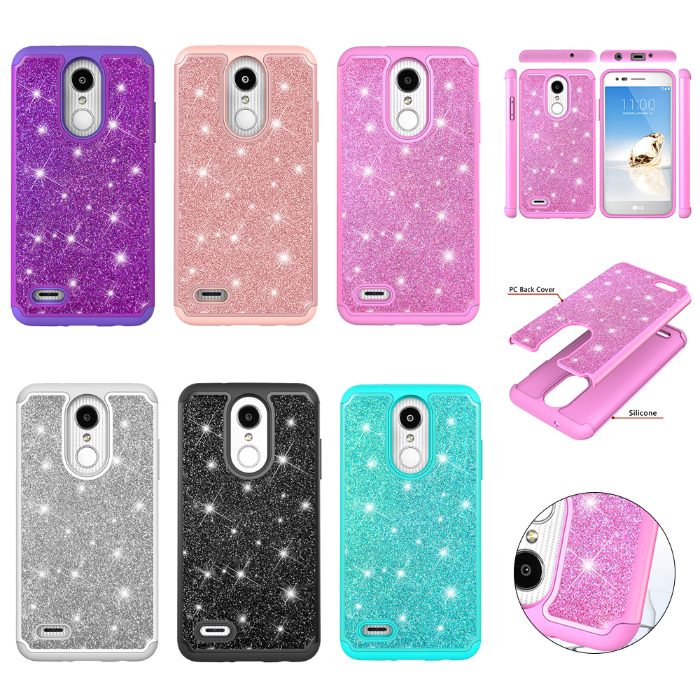 Fashion Bling Shining Powder Sequins Phone Case For LG