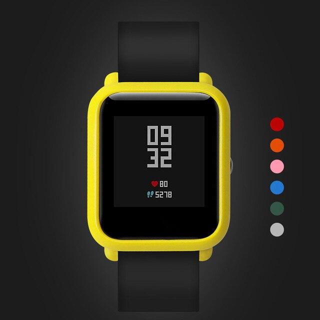 Mới nhất Slim Nhiều Màu Sắc Gọng PC Ốp Bảo Vệ Vỏ Cho Huami dành cho XIAOMI AMAZFIT BIP Younth Dây Caja de reloj #10