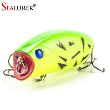 1 PCS 3D Olhos Lifelike Fishing Lure 5.5 cm 11g 8 # Ganchos Pesca Wobbler Popper Iscas de Peixe Isca Isca Dura Artificial Swimbait