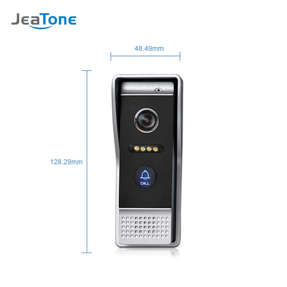 7 Inch WIFI IP Video Pintu Ponsel Intercom Bel Pintu Bangunan Villa Sistem Akses Kontrol Layar Sentuh Deteksi Gerak 1 untuk 3