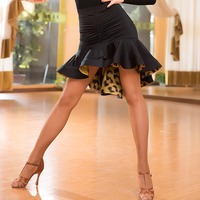 Fashion Ruffle ice silk sexy Latin Dance Irregular Skirt for Woman/female,Ballroom costume performance wear Practice dress M2059