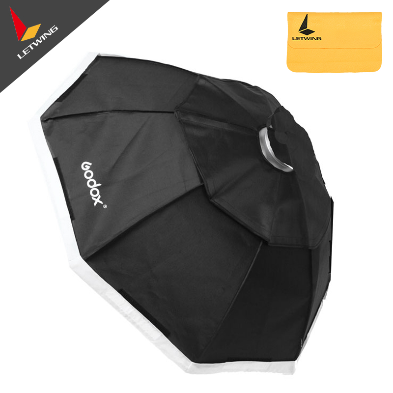 Professional Godox 95cm 37 Octagon Softbox  with Bowens Mount for Studio Strobe Flash Light godox studio flash accessories octagon softbox 37 95cm bowens mount with the gird for studio strobe flash light