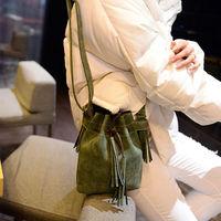 New tassel pumping with a small bag bucket bag handbag shoulder bag Messenger bag