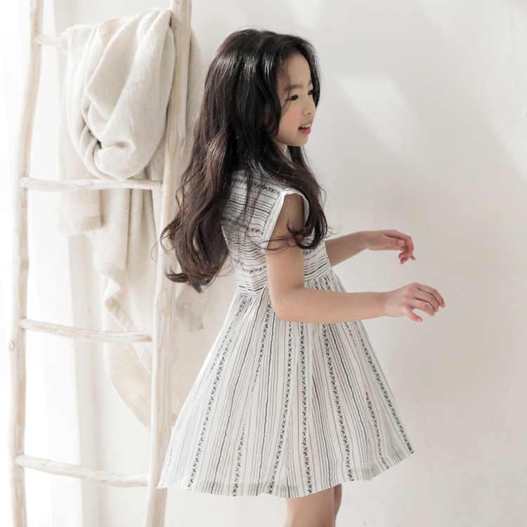 בנות 2019 קיץ שמלת ילדים חדשים פסים שמלת תינוק נסיכת שמלת כותנה פעוט שמלות עבור בנות טמפרמנט נחמד