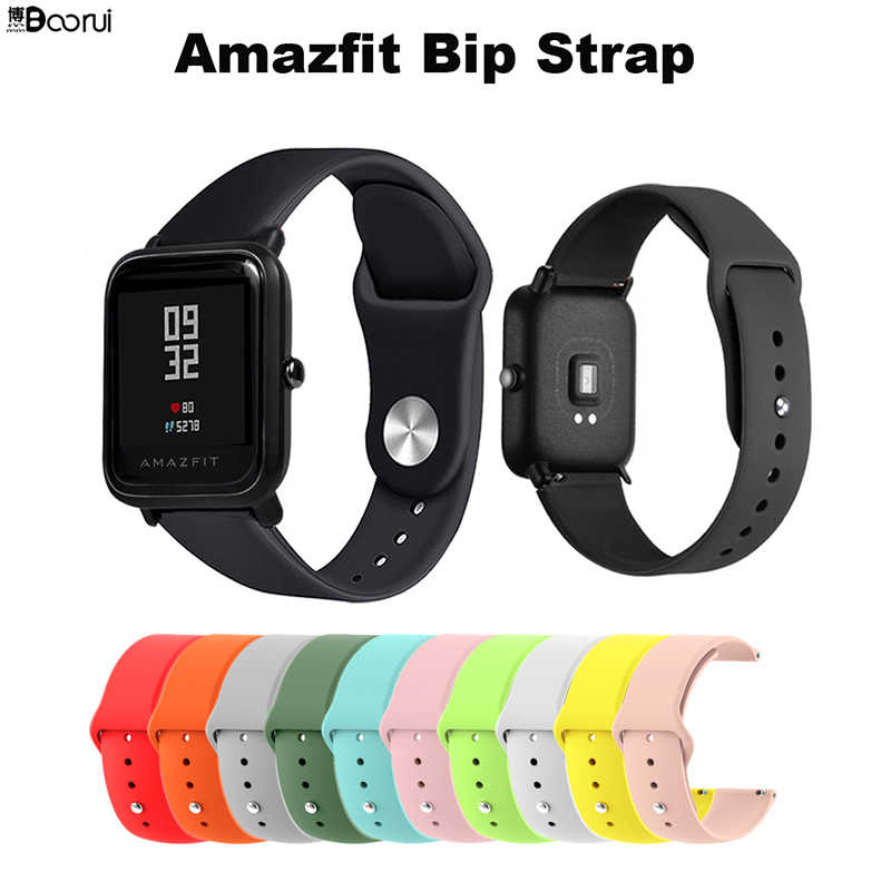 BOORUI 20/22mm Watch Strap Silicone Bracelet For Xiaomi Amazfit Bip Bit Pace straps Correa For Huawei Watch 2/Samsung Gear S2