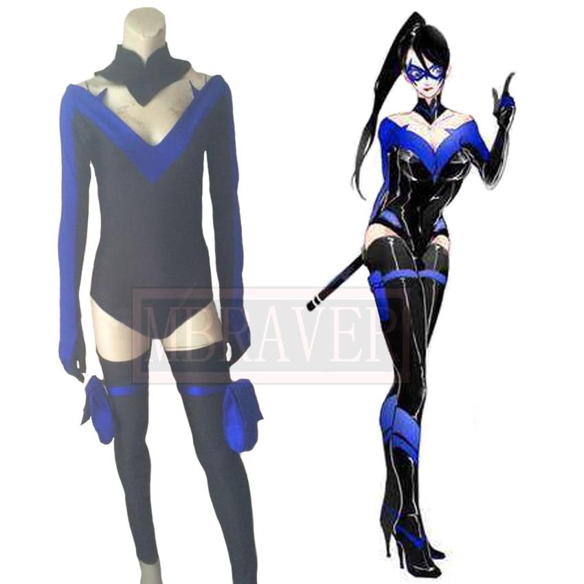 Batman: Arkham City Nightwing Richard John Dick Grayson sexe transfert Cosplay Costume fait sur mesure toute taille