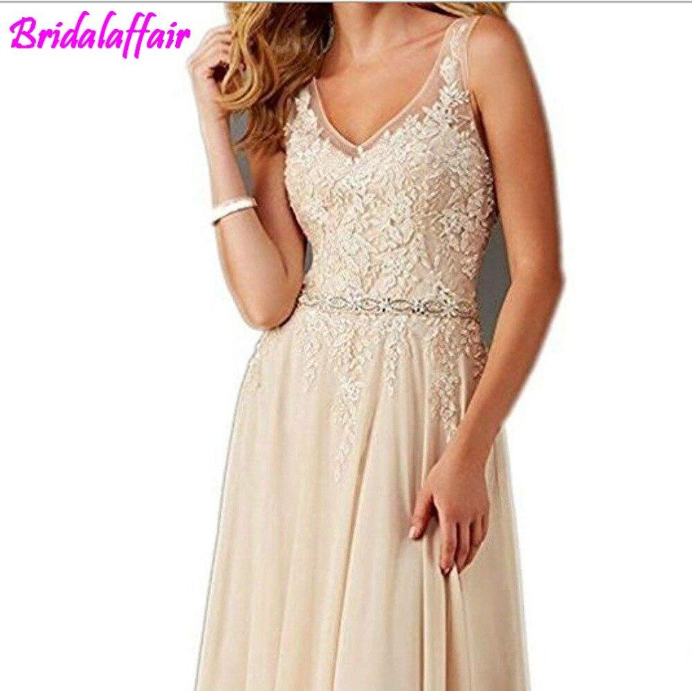 Femmes col en V Appliques robe de bal longue perlée robes de soirée élégantes femmes robes formelles robe de soirée longue - 3