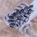 Exclusivo Black Safira Criado Branco CZ 925 Anel de Prata Esterlina Para Mulheres tamanho 5/6/7/8/9/10 S0189