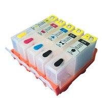 Para hp564 cartucho de tinta recargable para hp 564 xl para hp C309a 5510 6510 7510 B209 C310b C310c C310a C410a C410b Con Chip