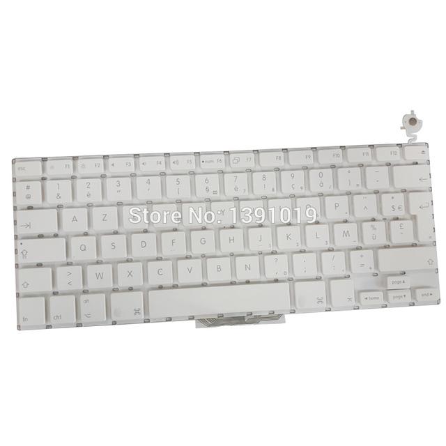 Envío libre a1181 fr francés teclado para macbook 13 ''blanco reemplazo de color