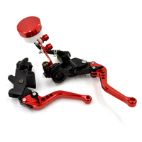 7 8 22mm Universal Motorcycle Brake Master Cylinder Clutch Reservoir Levers Set For Hyosung GT250 R