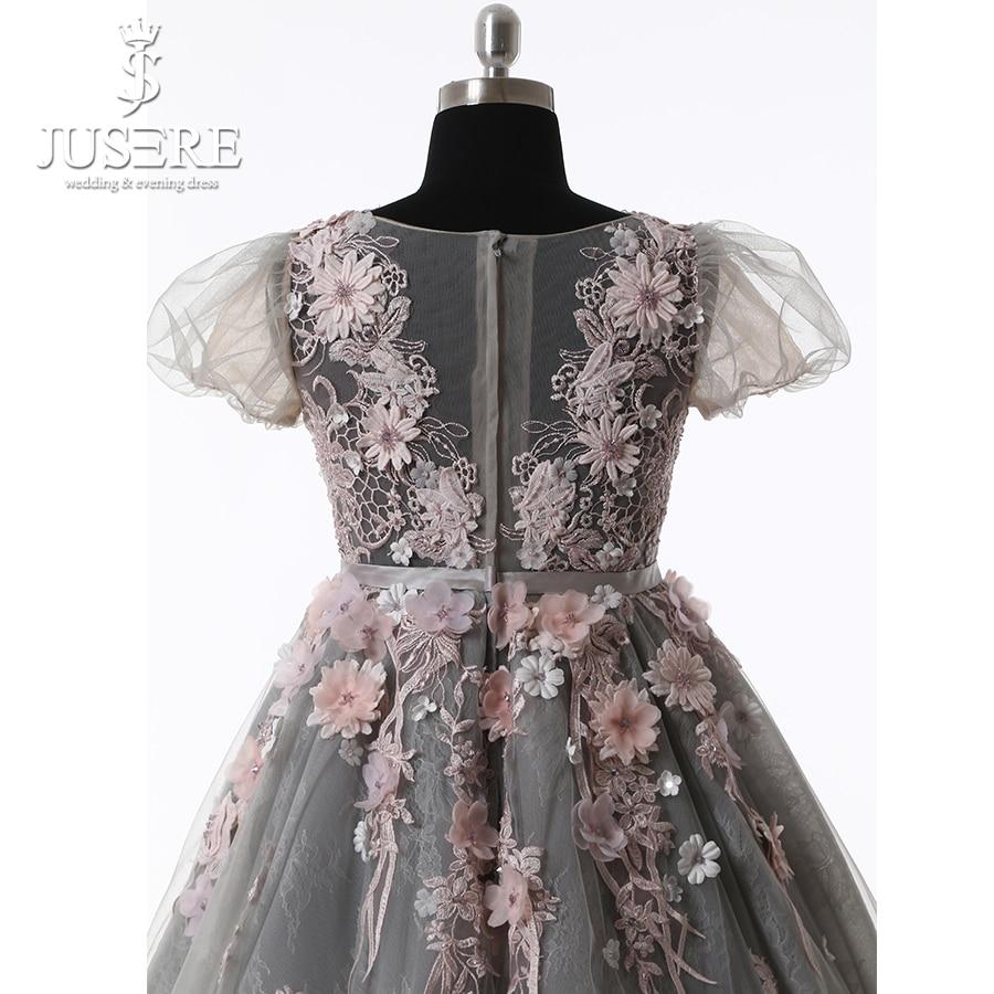 Kūdikių suknelė Pilka Tylos kūno gėlės Spalvinga plunksna - Suknelės vestuvėms - Nuotrauka 5