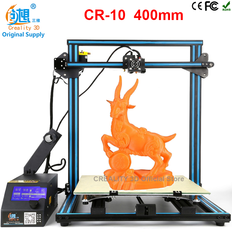 CREALITY 3D Printer CR-10 Printing 400*400*400mm Easy Assemble Reprap Prusa I3 3D Printer Kit DIY With Free Filament 8G SD Card