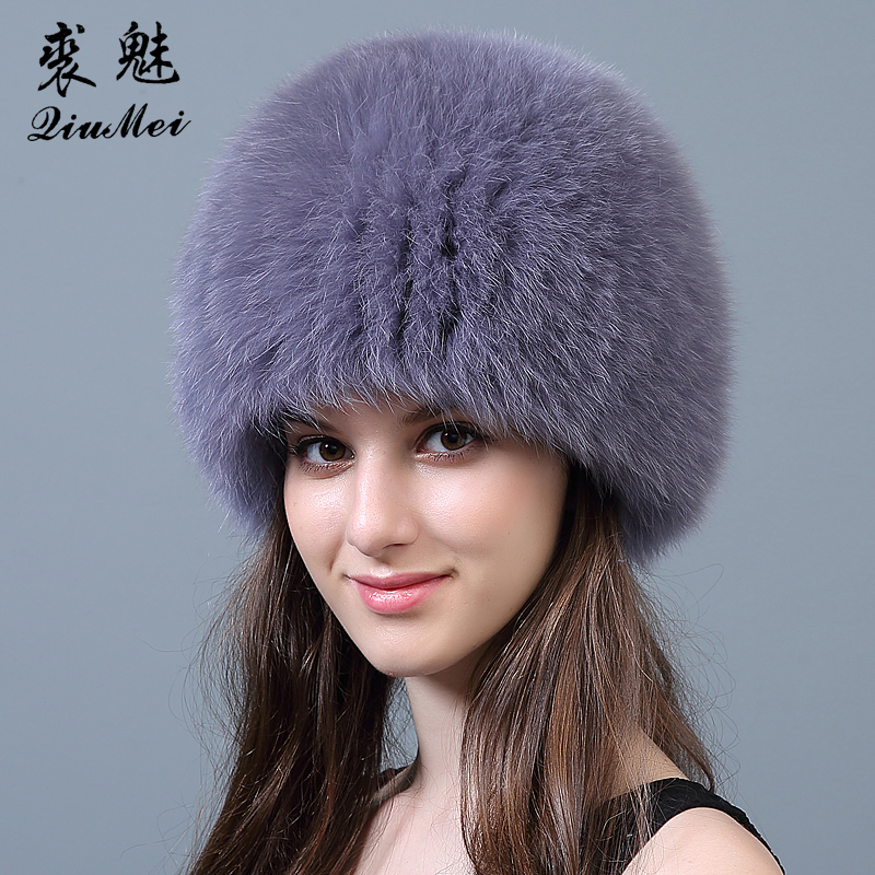 Fox Fur Bomber Hat Caps for Winter Knitting Lining Cap Luxury Brand New Trapper Hat Real Fox Fur Bomber Hats Russian Women the new children s cubs hat qiu dong with cartoon animals knitting wool cap and pile