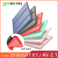 For iPad Air 2 Air 1 Case 2018 9.7 Funda Silicone Soft Back Slim Pu Leather Smart Cover Case for iPad 2018 6th generation Case